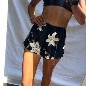 Flower Print Runaway Shorts